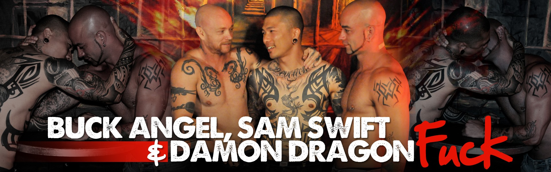 Buck Angel, Sam Swift & Damon Dragon Fuck